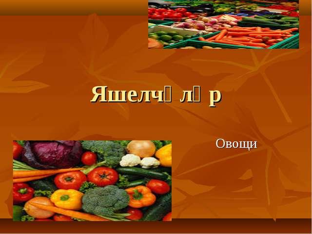 Яшелчәләр Овощи