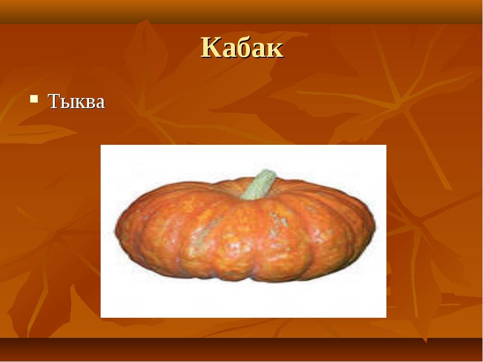 Кабак Тыква