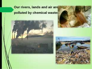 Our rivers, lands and air are polluted by chemical wastes.