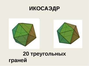 ИКОСАЭДР 20 треугольных граней