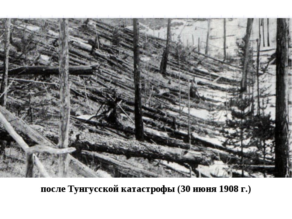 после Тунгусской катастрофы (30 июня 1908 г.)
