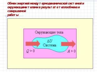 Обмен энергией между термодинамической системой и окружающими телами в резуль