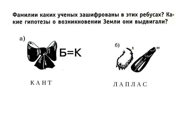 К А Н Т Л А П Л А С