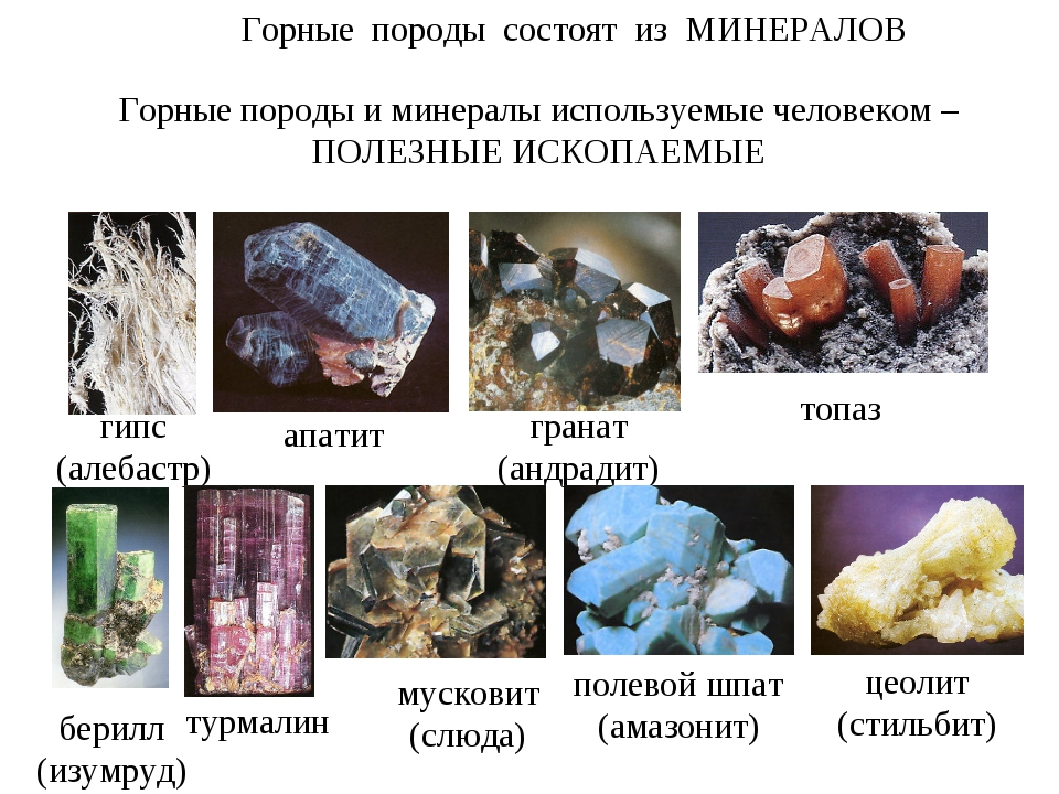 апатит мусковит (слюда) берилл (изумруд) гипс (алебастр) гранат (андрадит) то...