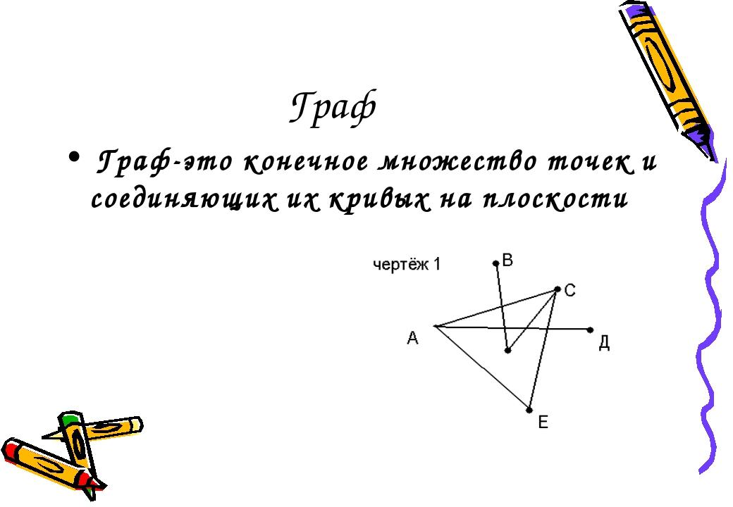 Граф Граф-это конечное множество точек и соединяющих их кривых на плоскости