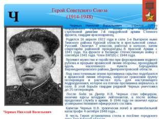 Черных Николай Васильевич  Черных Николай Васильевич – стрелок 229-го гварде