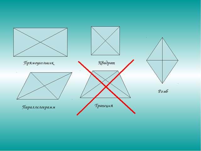 Прямоугольник Квадрат Ромб Трапеция Параллелограмм