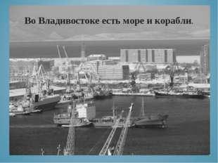 Во Владивостоке есть море и корабли.