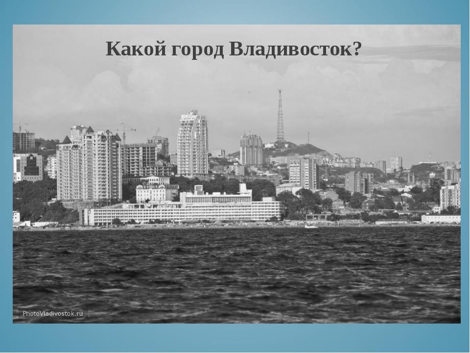 Какой город Владивосток?