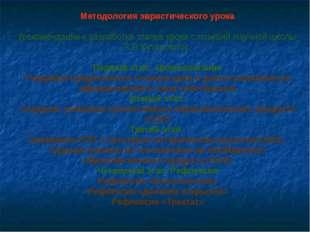 Методология эвристического урока (рекомендации к разработке этапов урока с по