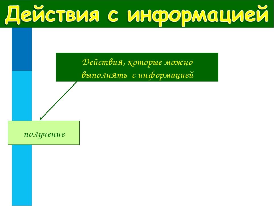 Действия, которые можно выполнять с информацией получение