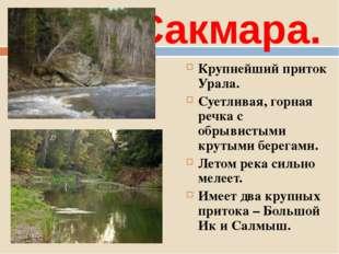 Сакмара. Крупнейший приток Урала. Суетливая, горная речка с обрывистыми круты