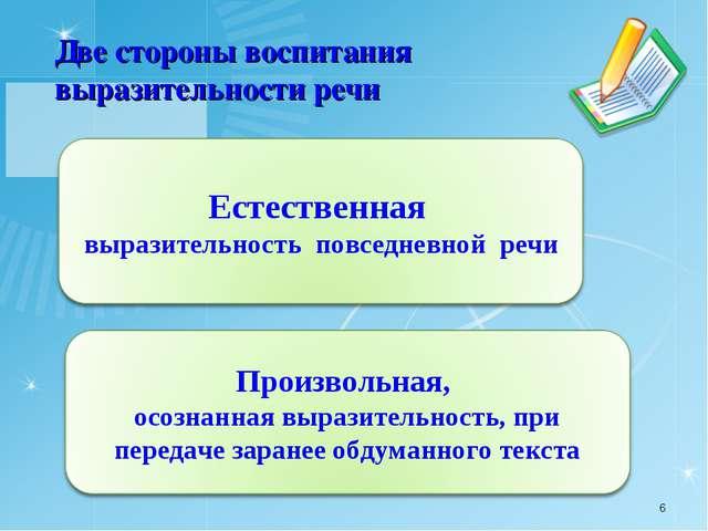 Две стороны воспитания выразительности речи *