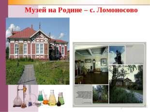 Музей на Родине – с. Ломоносово