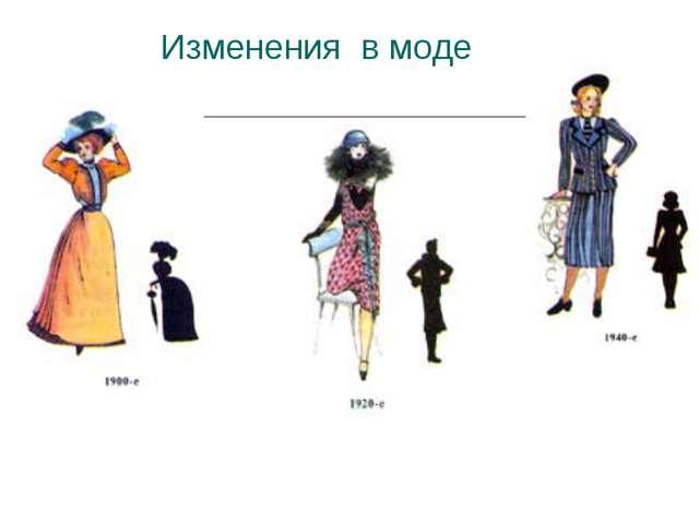 Изменения в моде