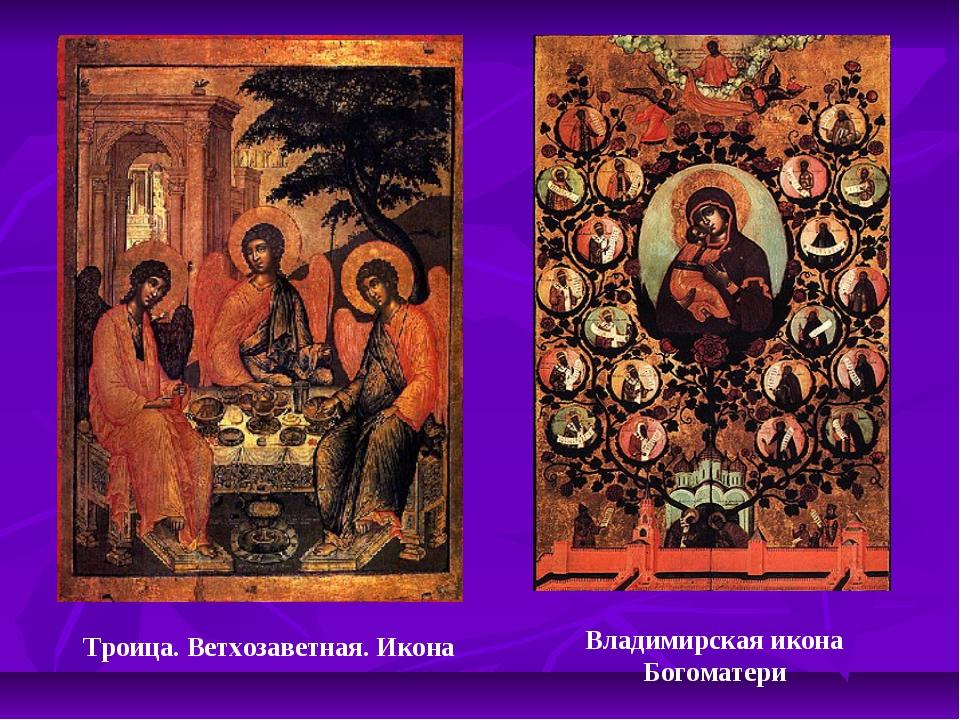 Троица. Ветхозаветная. Икона Владимирская икона Богоматери