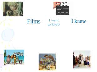 Films	 I want to know	 I knew
