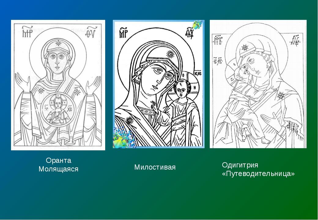 канон «Умиление». канон «Оранта» Оранта Молящаяся Милостивая Одигитрия «Путев...