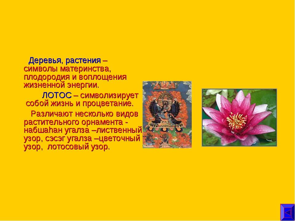 Деревья, растения – символы материнства, плодородия и воплощения жизненной э...