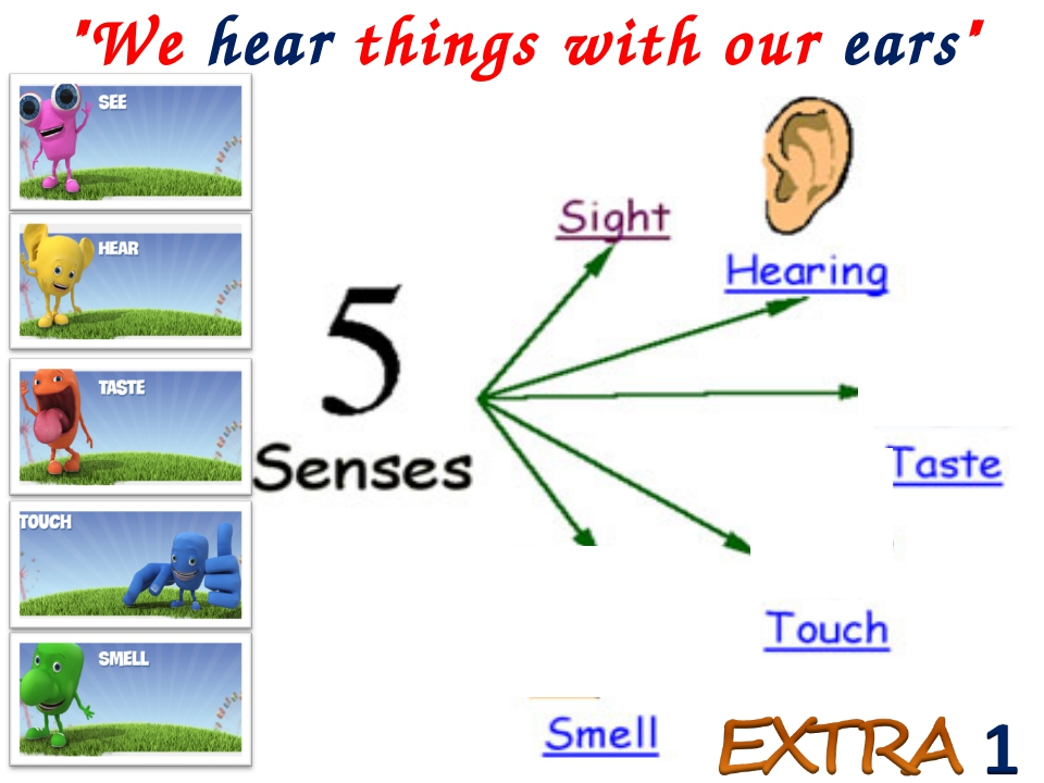 """""""We hear things with our ears"""""""