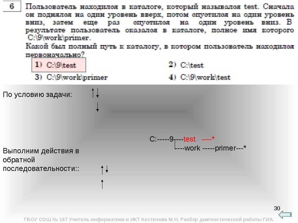 * C:-----9----test ----* ----work -----primer---* По условию задачи: Выполним...
