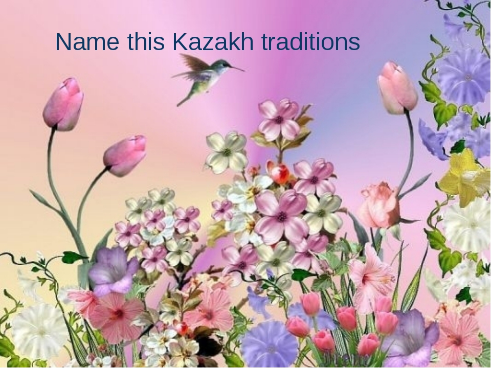 Name this Kazakh traditions