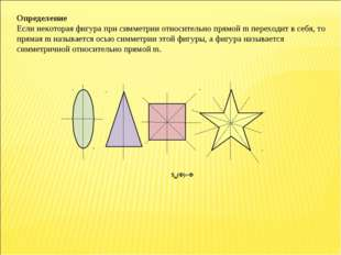 Определение Если некоторая фигура при симметрии относительно прямой m переход