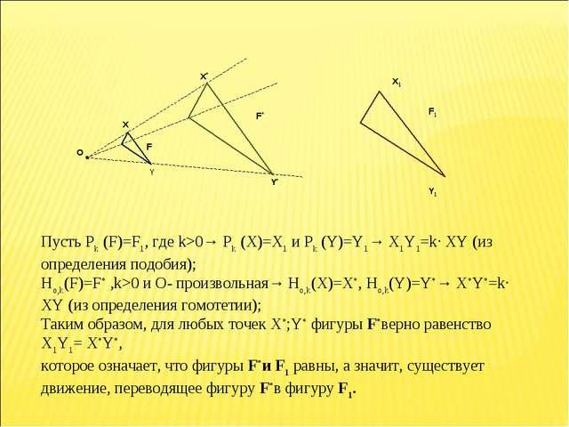 Пусть Рk (F)=F1, где k>0→ Рk (X)=X1 и Рk (Y)=Y1→ X1Y1=k∙ XY (из определения п...