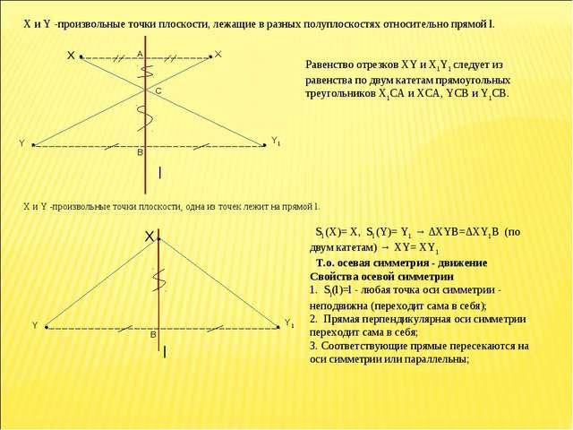 X и Y -произвольные точки плоскости, лежащие в разных полуплоскостях относите...