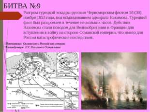 БИТВА №9 Разгром турецкой эскадры русским Черноморским флотом 18 (30) ноября