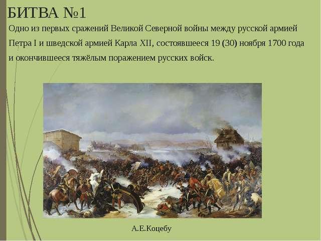 БИТВА №1 Одно из первых сражений Великой Северной войны между русской армией...