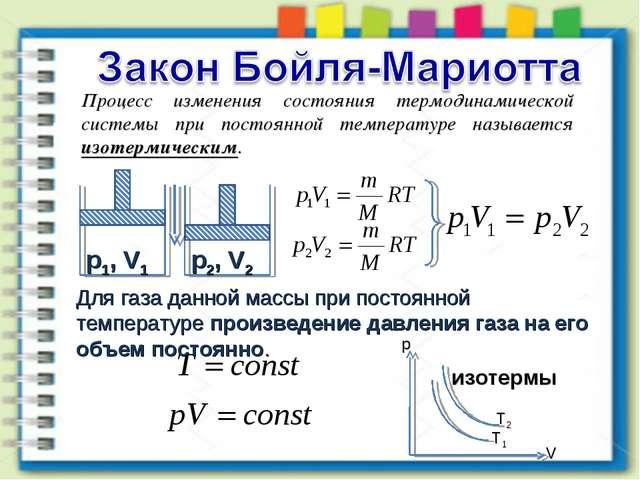 Процесс изменения состояния термодинамической системы при постоянной температ...