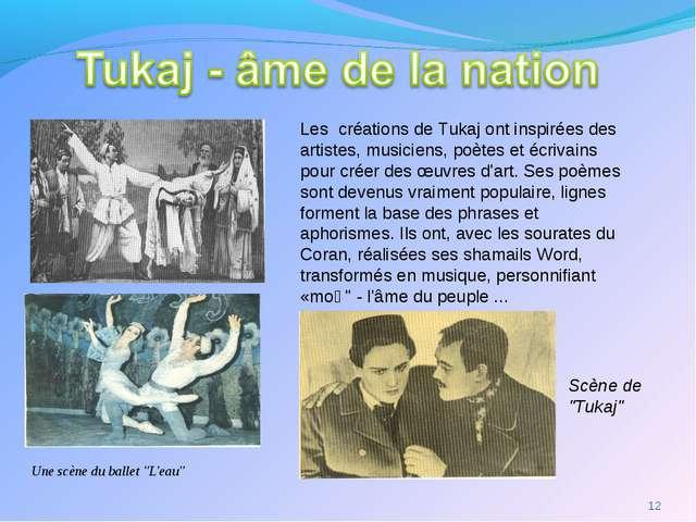 """Une scène du ballet """"L'eau"""" Scène de """"Tukaj"""" * Les créations de Tukaj ont in..."""