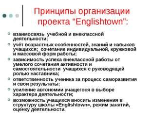 """Принципы организации проекта """"Englishtown"""": взаимосвязь учебной и внеклассной"""