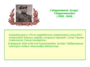 Командир роты 175-го гвардейского стрелкового полка 58-й стрелковой дивизии