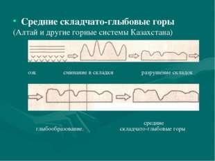 Средние складчато-глыбовые горы (Алтай и другие горные системы Казахстана) оз