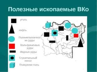 Полезные ископаемые ВКо уголь нефть Вольфрамовые руды Полиметаллические руды