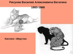 Рисунки Василия Алексеевича Ватагина 1883-1969 Киплинг «Маугли»