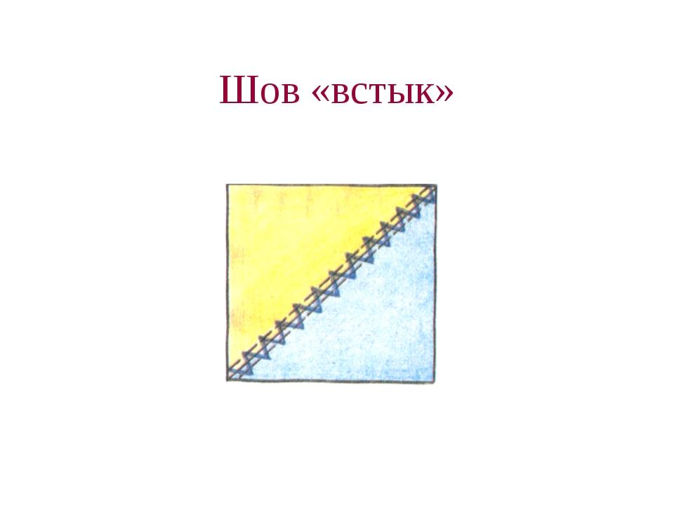 Шов «встык»
