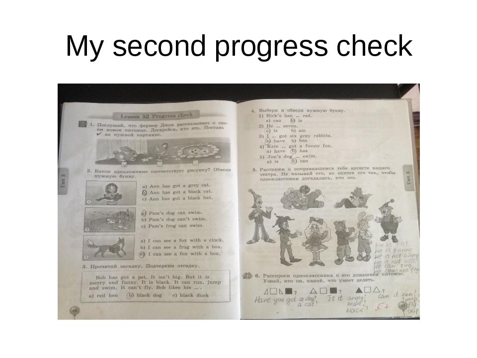 My second progress check