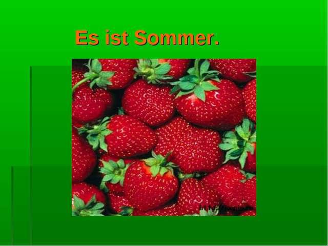 Es ist Sommer.
