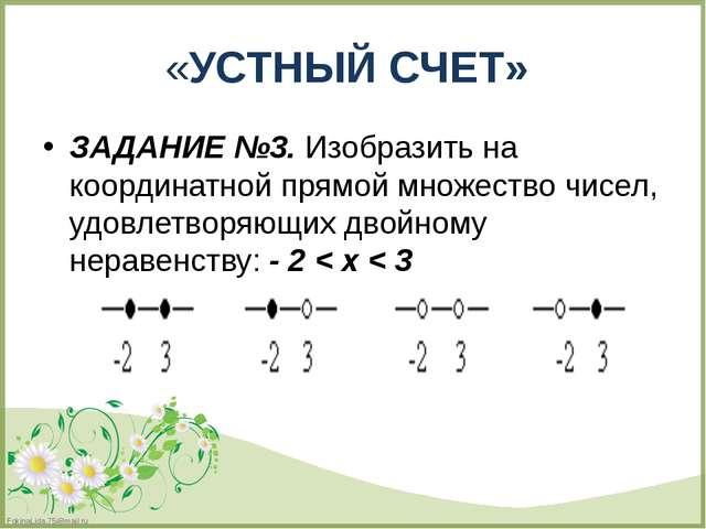 ЗАДАНИЕ №3. Изобразить на координатной прямой множество чисел, удовлетворяющи...
