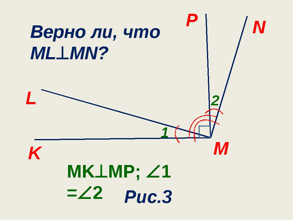 N M P L 1 Рис.3 K 2 MKMP; 1 =2 Верно ли, что MLMN?