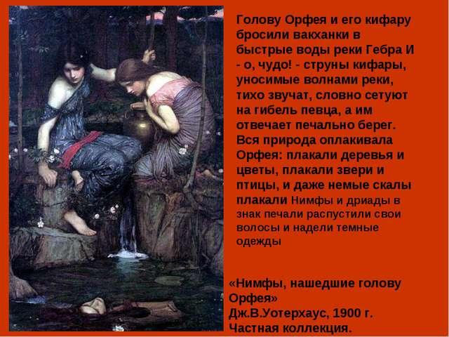 «Нимфы, нашедшие...