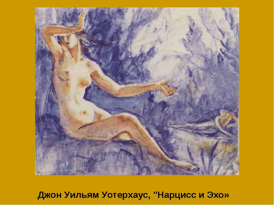 "Джон Уильям Уотерхаус, ""Нарцисс и Эхо»"