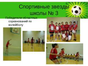 Спортивные звезды школы № 3 Победители областных соревнований по волейболу Po