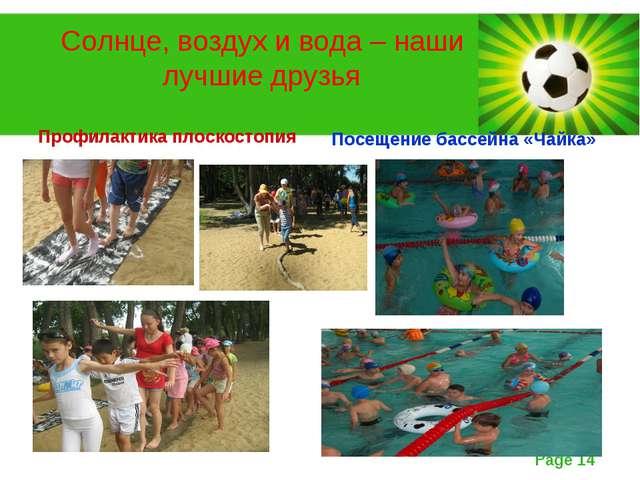Солнце, воздух и вода – наши лучшие друзья Профилактика плоскостопия Посещени...