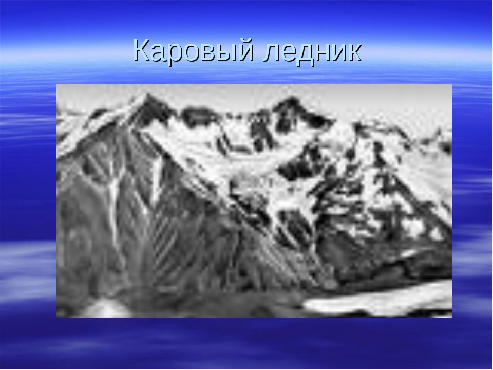 Каровый ледник
