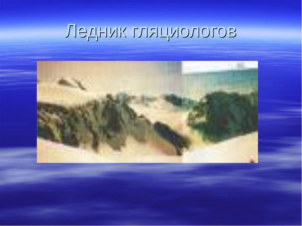 Ледник гляциологов