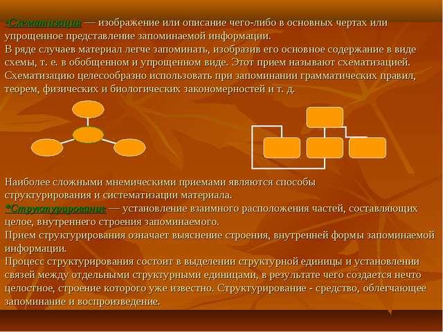 *Схематизация— изображение или описание чего-либо в основных чертах или упр...
